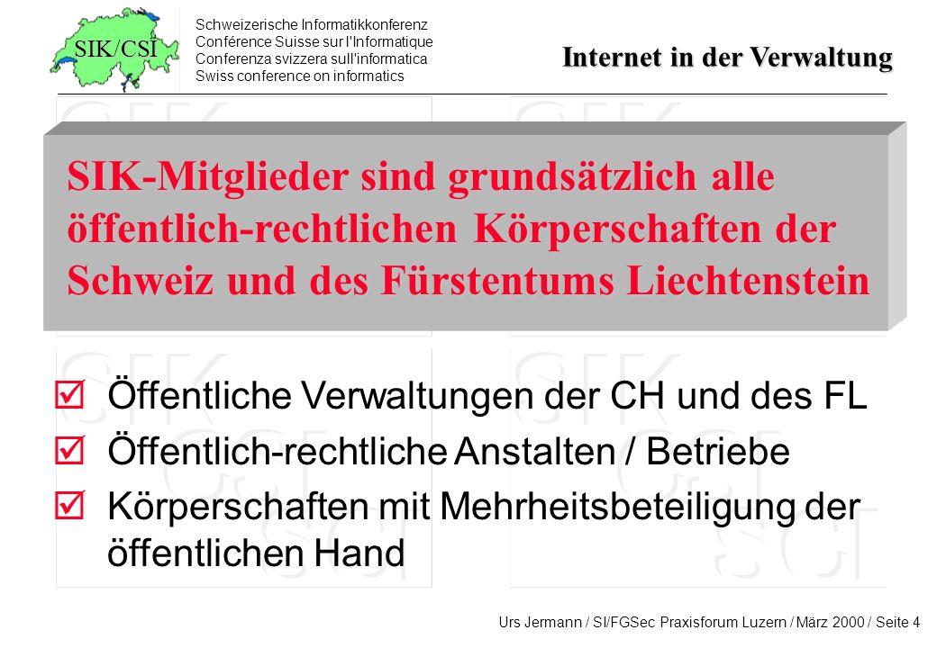Schweizerische Informatikkonferenz Conférence Suisse sur l'Informatique Conferenza svizzera sull'informatica Swiss conference on informatics Internet
