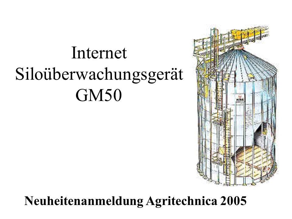 Internet Siloüberwachungsgerät GM50 Neuheitenanmeldung Agritechnica 2005