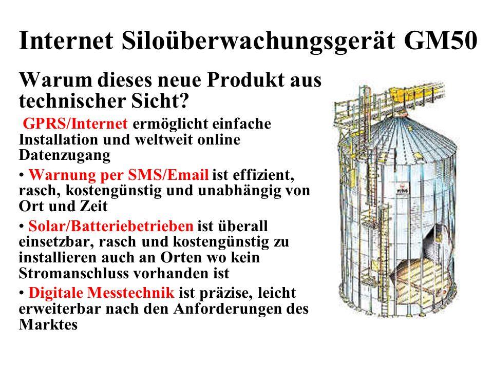 Internet Siloüberwachungsgerät GM50 Warum dieses neue Produkt aus technischer Sicht.