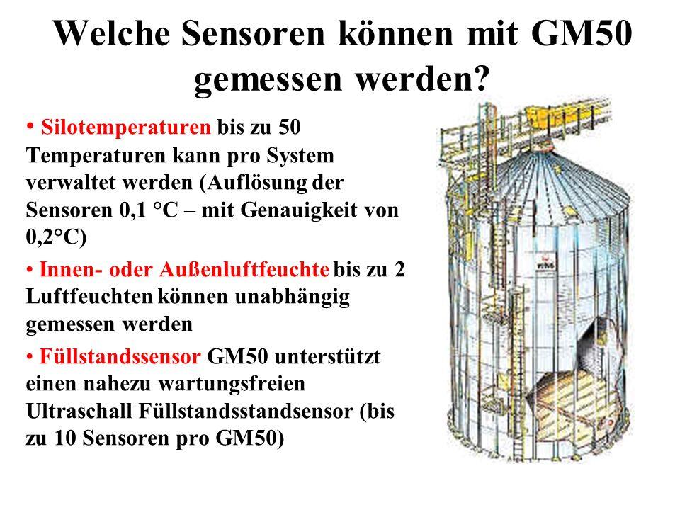 Welche Sensoren können mit GM50 gemessen werden.