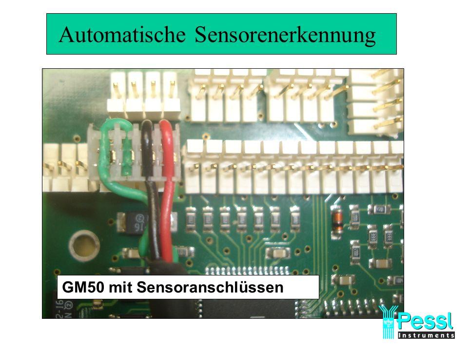 Automatische Sensorenerkennung GM50 mit Sensoranschlüssen