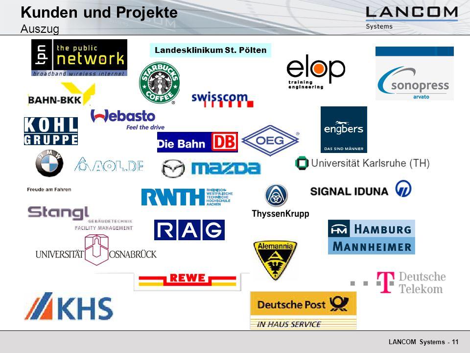 LANCOM Systems - 11 Kunden und Projekte Auszug Landesklinikum St. Pölten