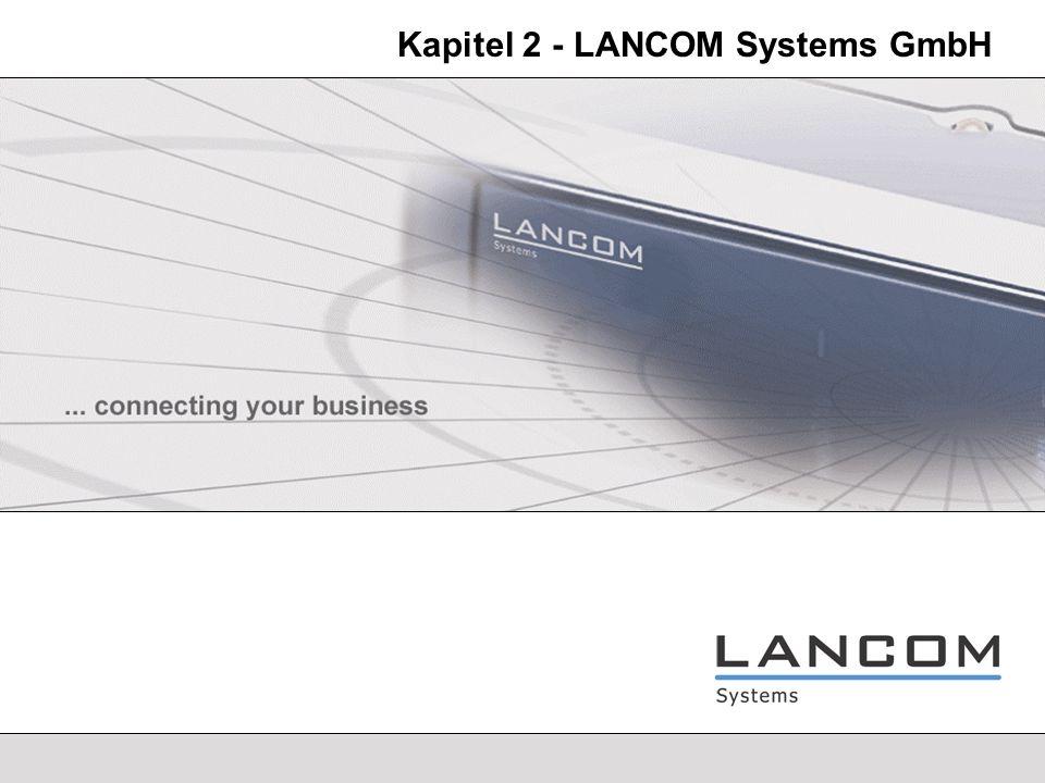 Kapitel 2 - LANCOM Systems GmbH