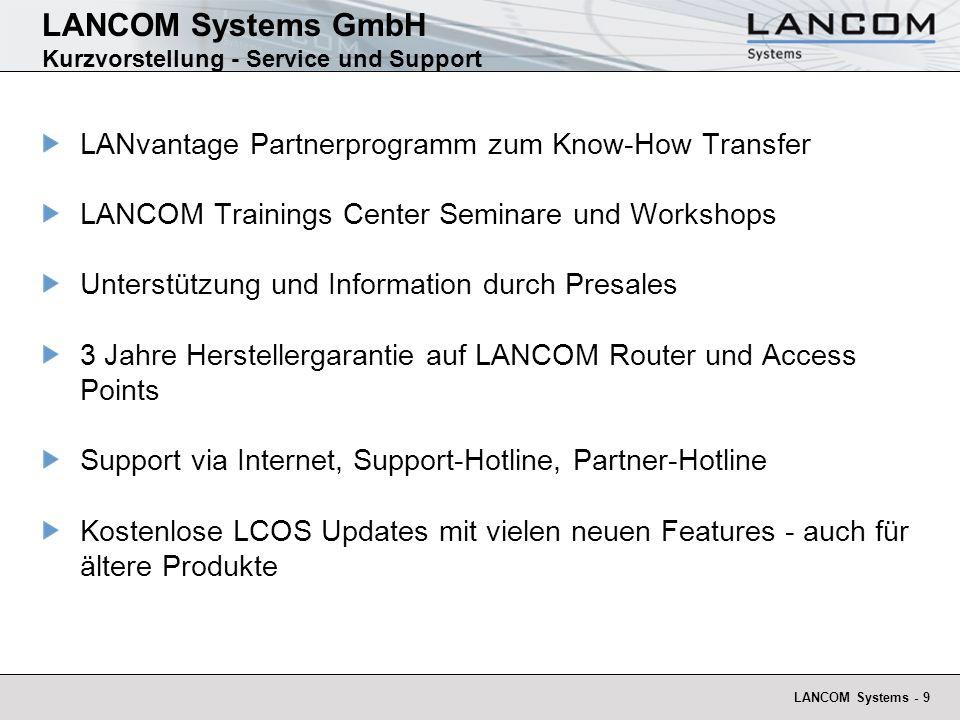 LANCOM Systems - 10 Presseauszeichnungen WLAN-Router WLAN-Access-Points Best Brand