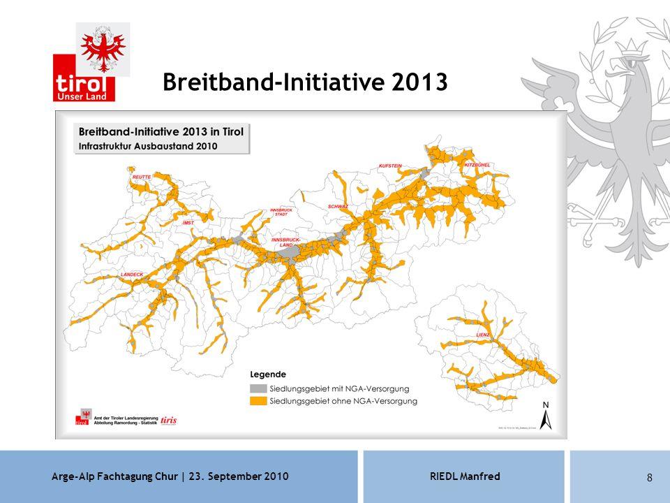 Arge-Alp Fachtagung Chur | 23. September 2010RIEDL Manfred 8 Breitband-Initiative 2013