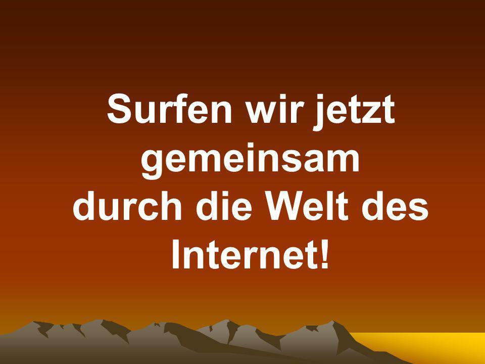 Surfen wir jetzt gemeinsam durch die Welt des Internet!