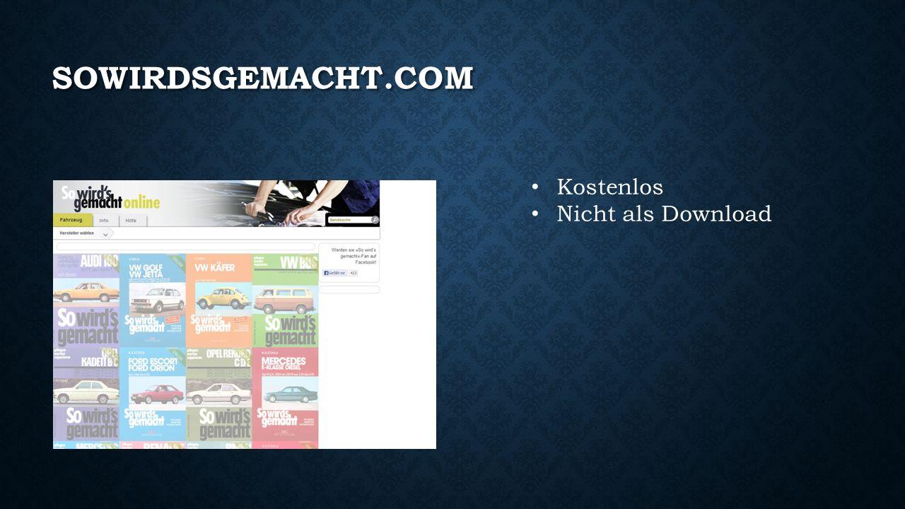 SOWIRDSGEMACHT.COM Kostenlos Nicht als Download