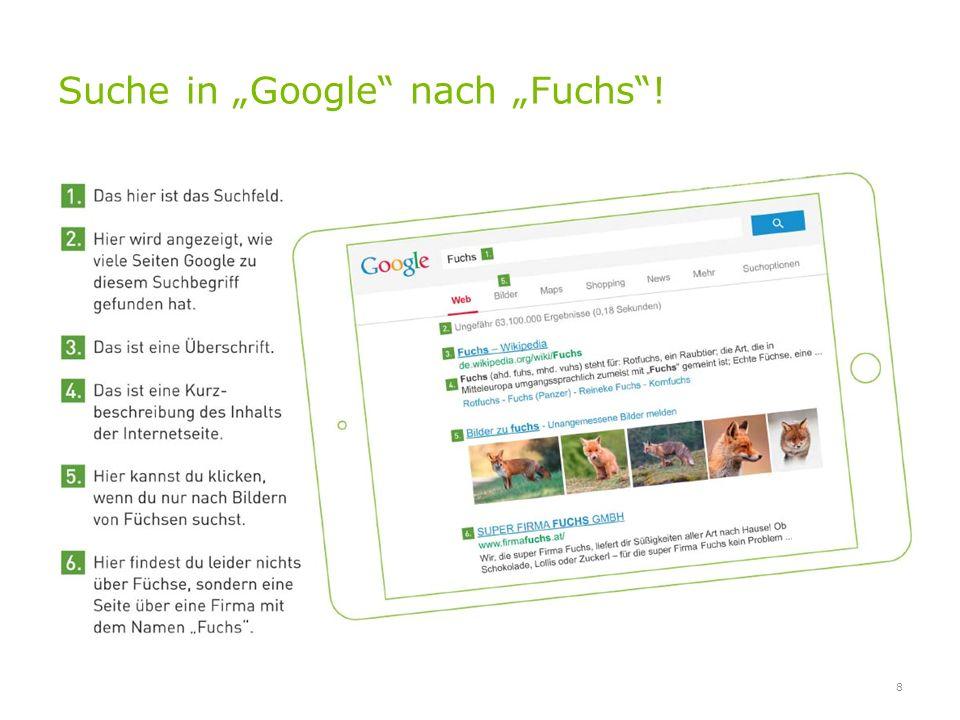 Kinderleichtes Suchen 9 www.fragfinn.de www.helles-koepfchen.de www.blinde-kuh.de Leicht verständlich Keine Werbung Für den Überblick