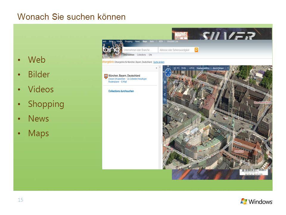 Wonach Sie suchen können Web Bilder Videos Shopping News Maps 15