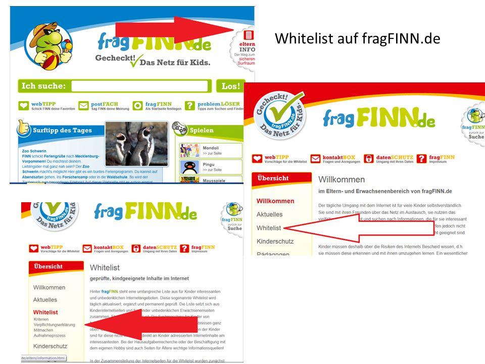 Whitelist auf fragFINN.de