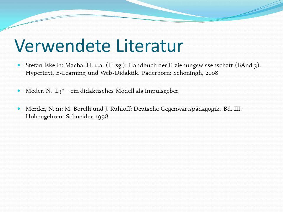 Verwendete Literatur Stefan Iske in: Macha, H. u.a.