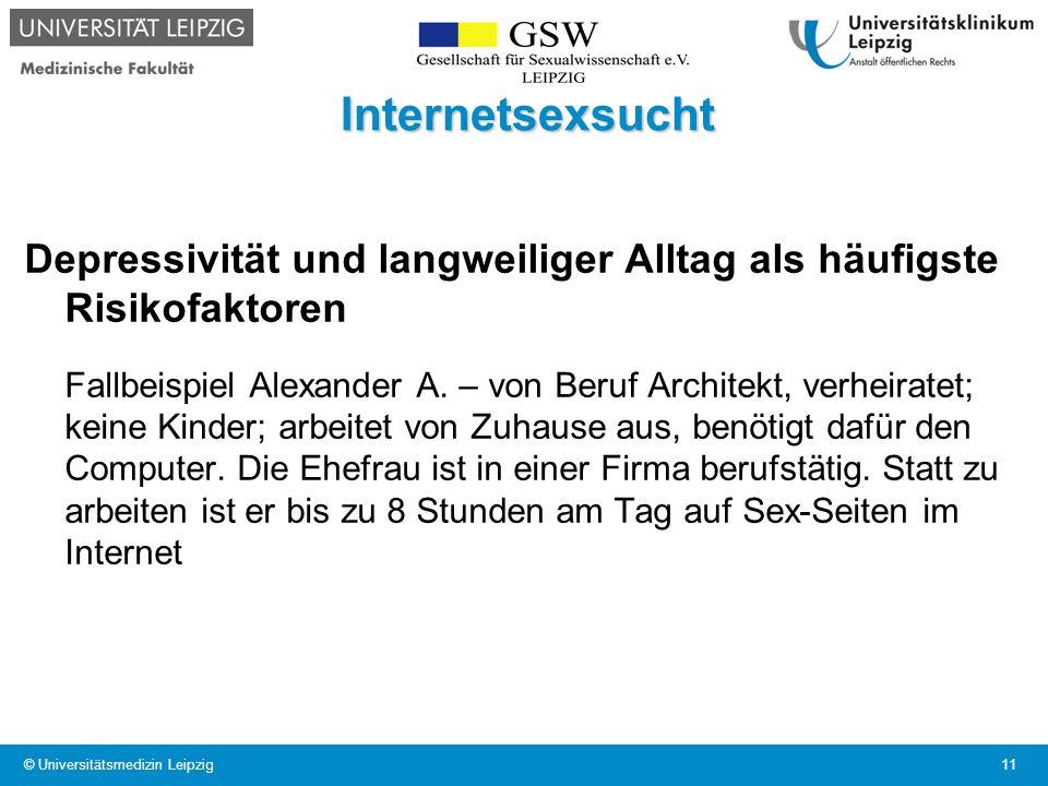 Internetsexsucht Depressivität und langweiliger Alltag als häufigste Risikofaktoren Fallbeispiel Alexander A. – von Beruf Architekt, verheiratet; kein