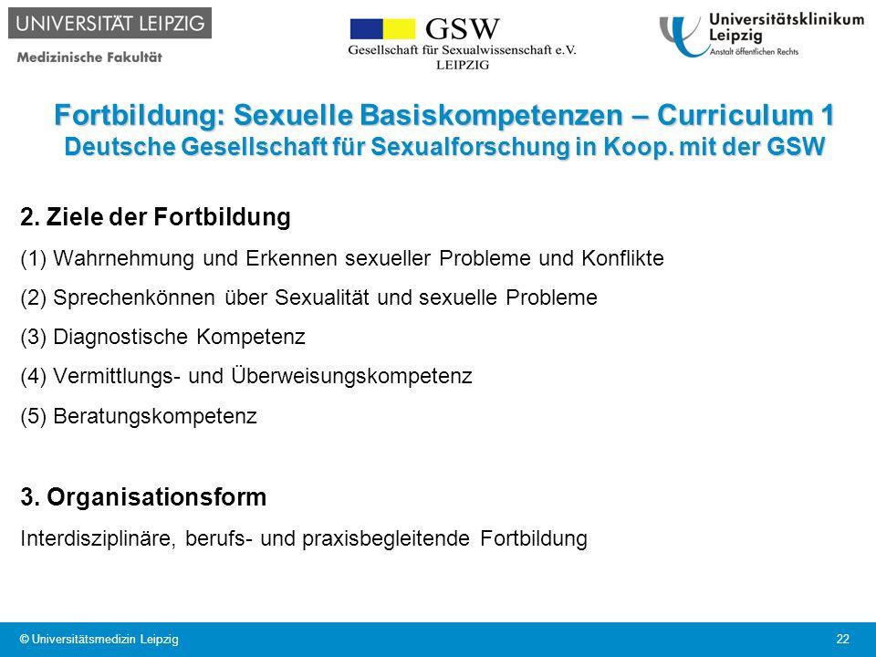 Fortbildung: Sexuelle Basiskompetenzen – Curriculum 1 Deutsche Gesellschaft für Sexualforschung in Koop. mit der GSW 2. Ziele der Fortbildung (1) Wahr