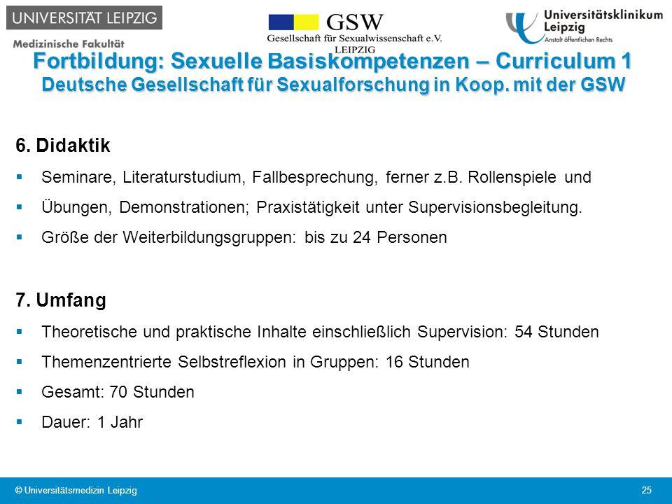 Fortbildung: Sexuelle Basiskompetenzen – Curriculum 1 Deutsche Gesellschaft für Sexualforschung in Koop. mit der GSW 6. Didaktik Seminare, Literaturst