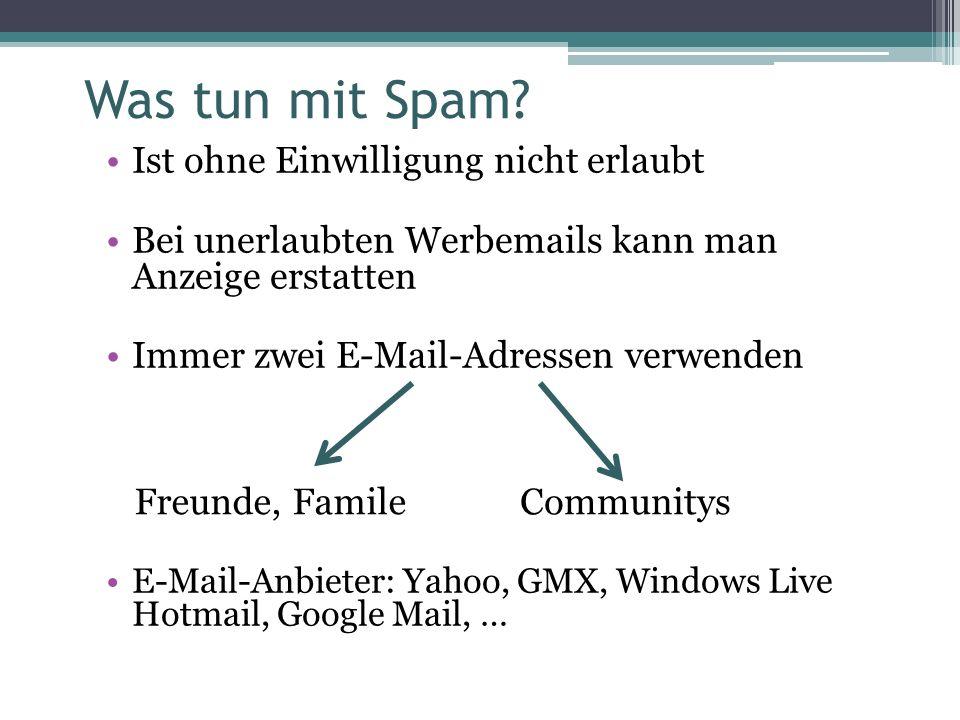 Was tun mit Spam.