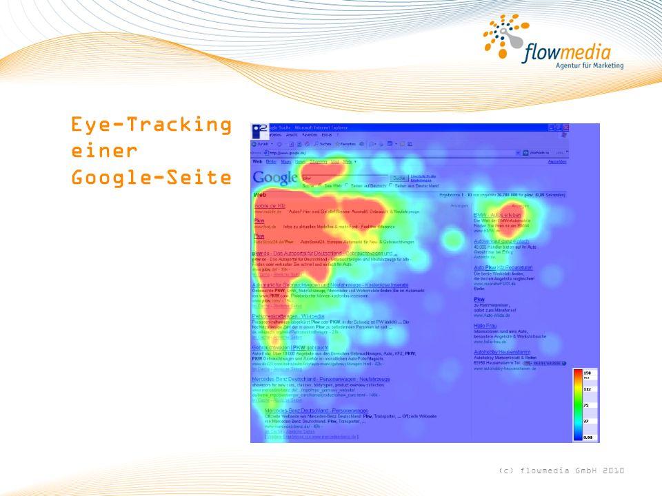 Eye-Tracking einer Google-Seite (c) flowmedia GmbH 2010