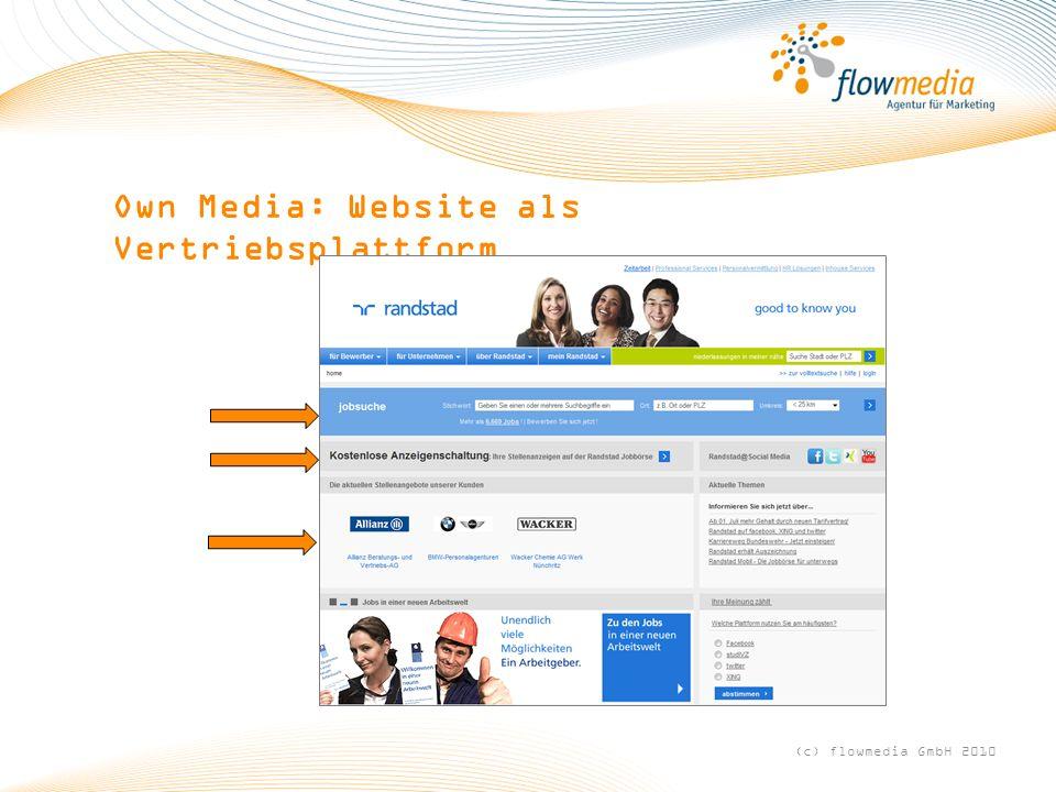 Own Media: Website als Vertriebsplattform (c) flowmedia GmbH 2010