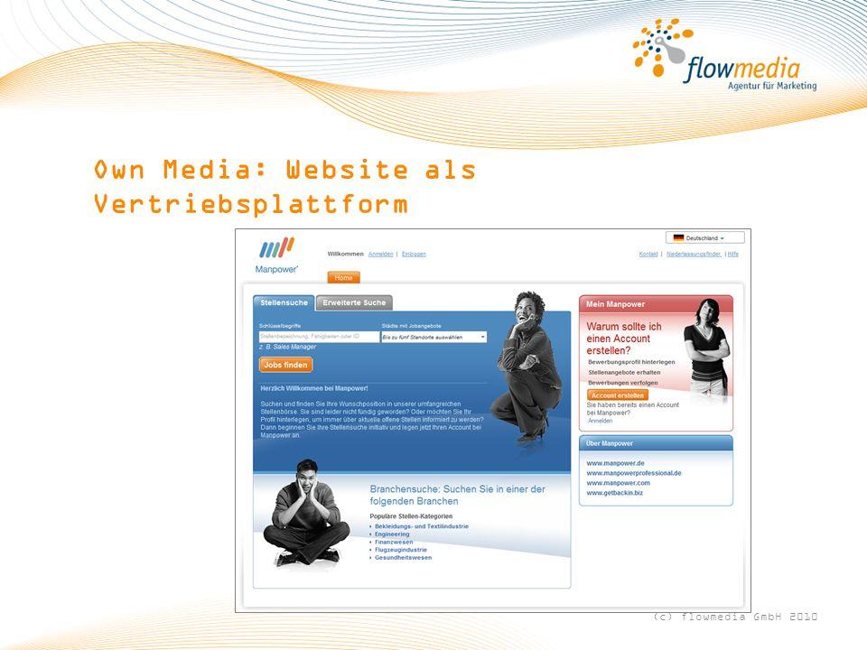 Own Media: Website als Vertriebsplattform