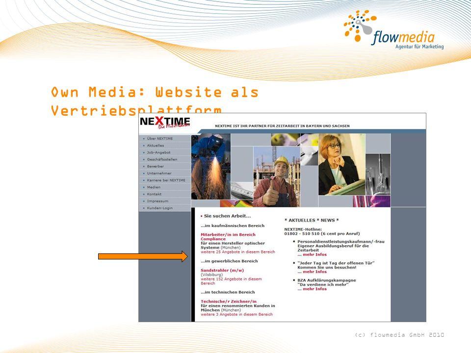 (c) flowmedia GmbH 2010 Own Media: Website als Vertriebsplattform