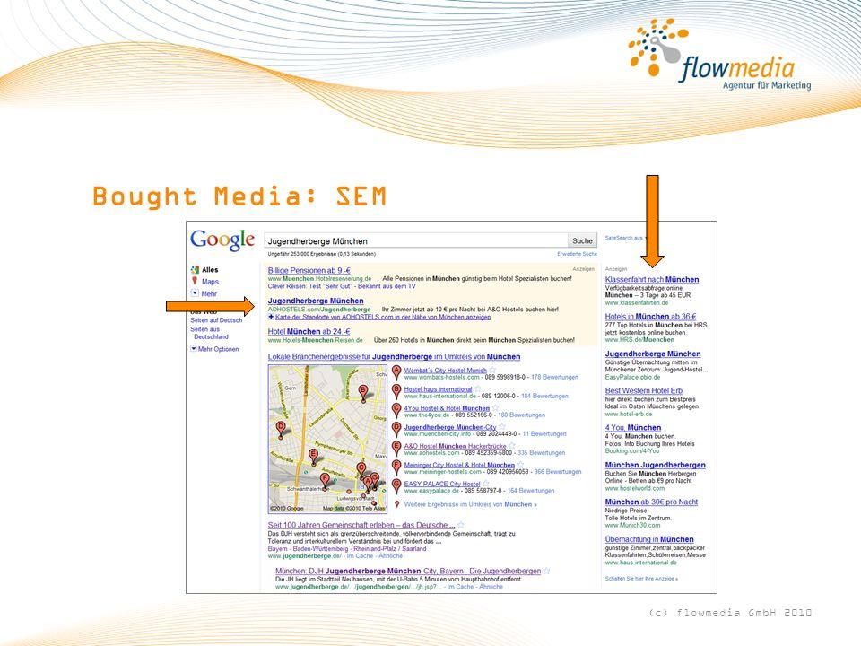 Bought Media: SEM (c) flowmedia GmbH 2010