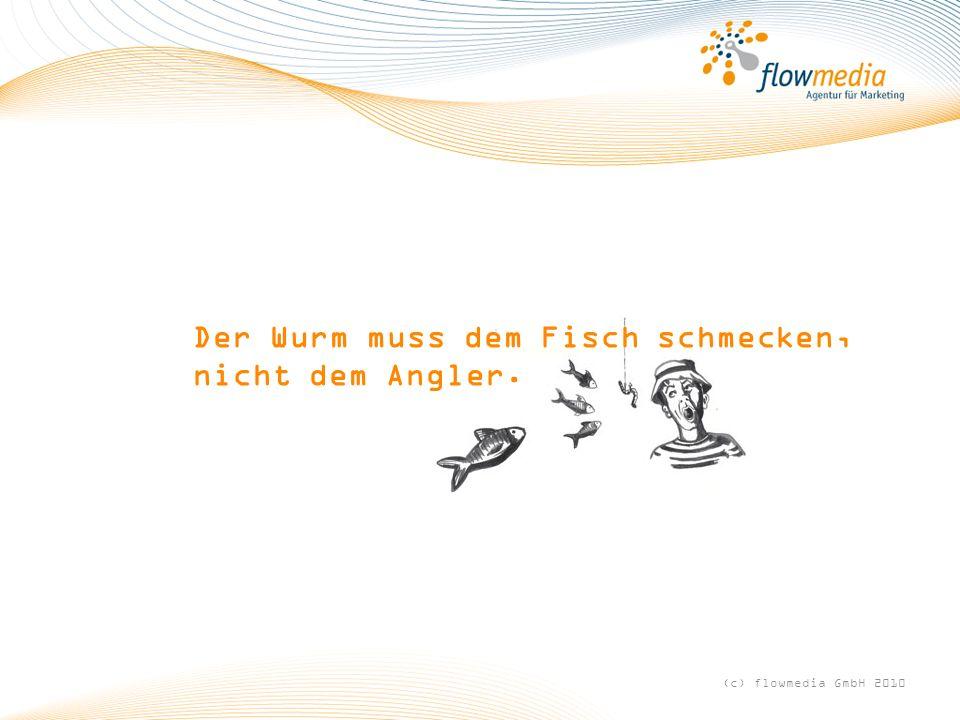 Der Wurm muss dem Fisch schmecken, nicht dem Angler. (c) flowmedia GmbH 2010