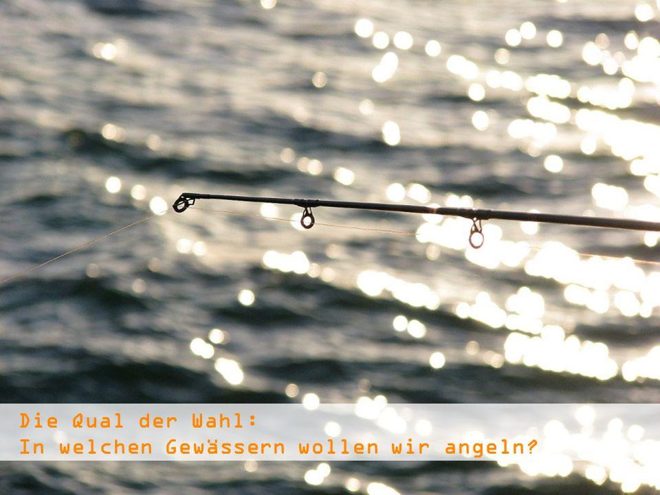 Die Qual der Wahl: In welchen Gewässern wollen wir angeln?
