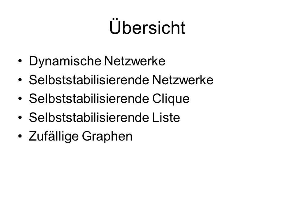 Dynamische Netzwerke Jedes universelle verteilte System basiert auf einem physikalischen oder logischen Netzwerk, das prinzipiell den Austausch von Informationen zwischen beliebigen zwei Teilnehmern (auf direktem oder indirektem Weg) erlaubt.