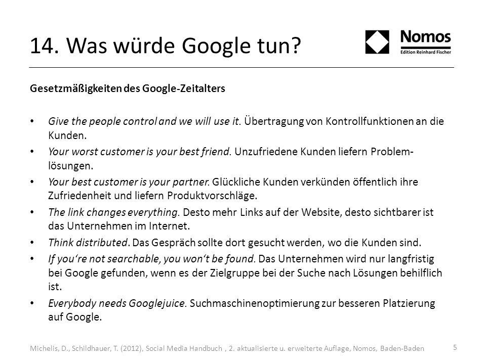 14. Was würde Google tun. Michelis, D., Schildhauer, T.