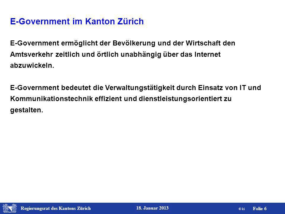 Regierungsrat des Kantons Zürich Folie 17 18.Januar 2013 ZHprivateTax.