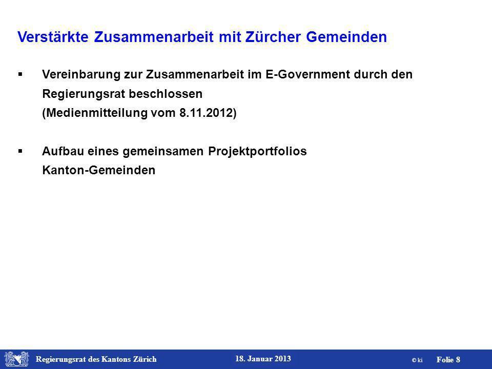 Regierungsrat des Kantons Zürich Folie 9 18.