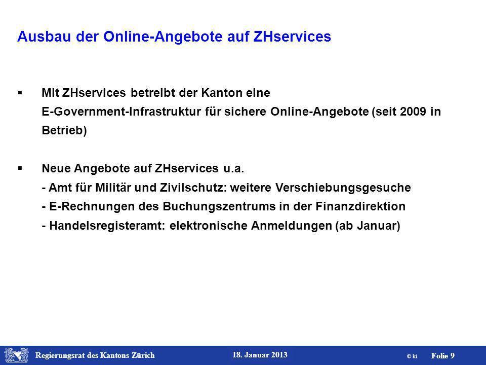 Regierungsrat des Kantons Zürich Folie 10 18.