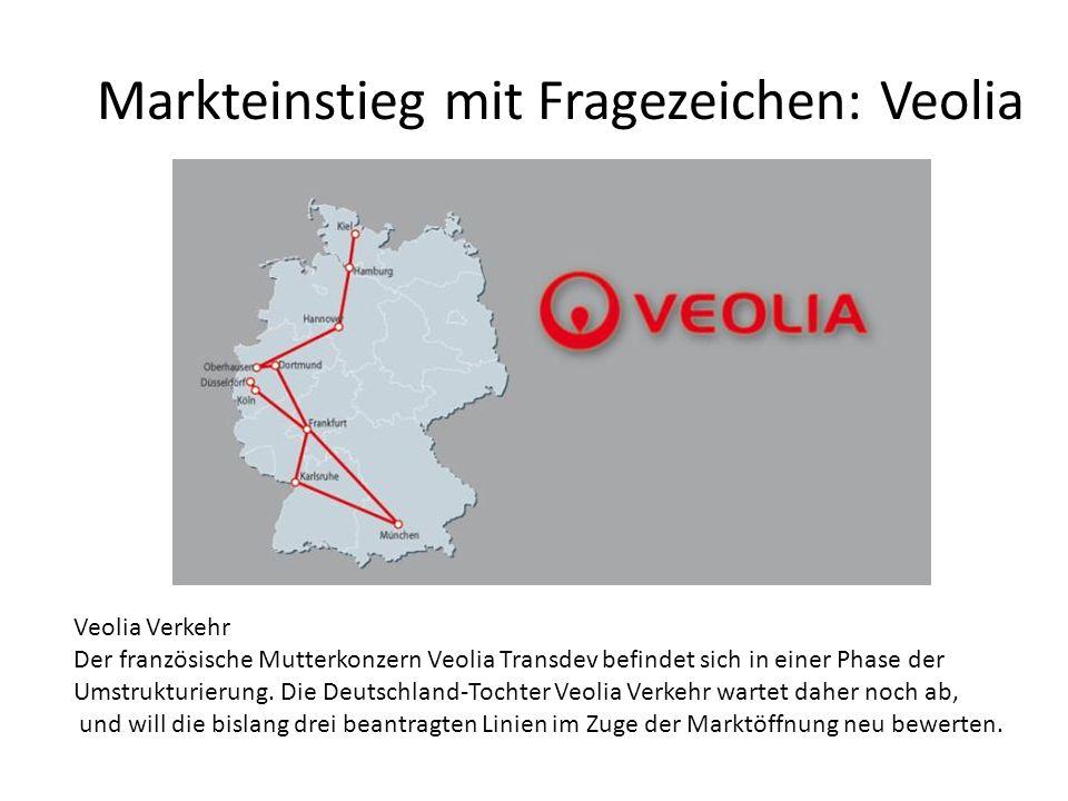 Markteinstieg mit Fragezeichen: Veolia Veolia Verkehr Der französische Mutterkonzern Veolia Transdev befindet sich in einer Phase der Umstrukturierung
