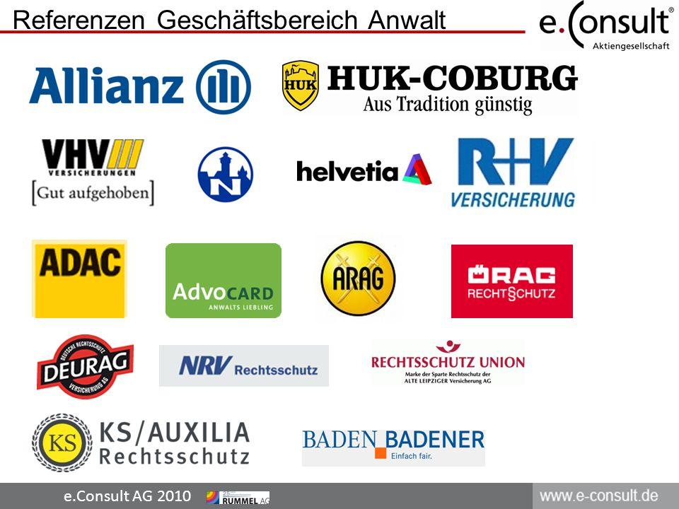 e.Consult AG 2010 Referenzen Geschäftsbereich Anwalt