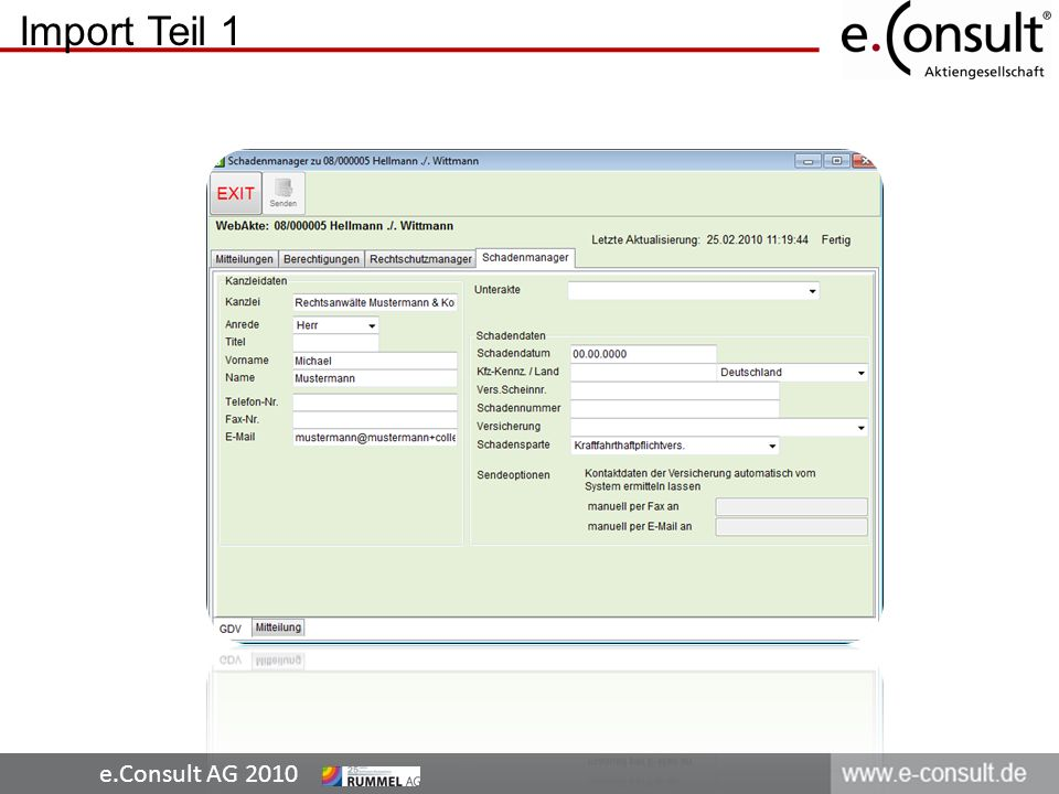 e.Consult AG 2010 Import Teil 2