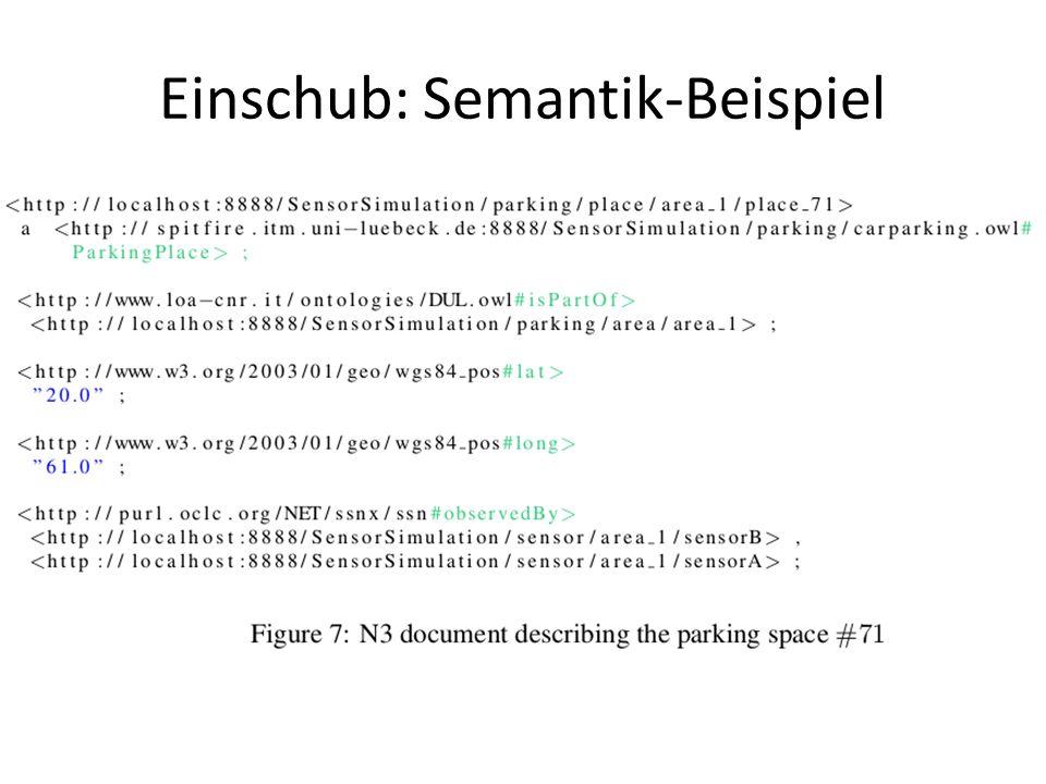 Einschub: Semantik-Beispiel