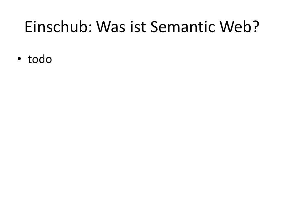 Einschub: Was ist Semantic Web todo
