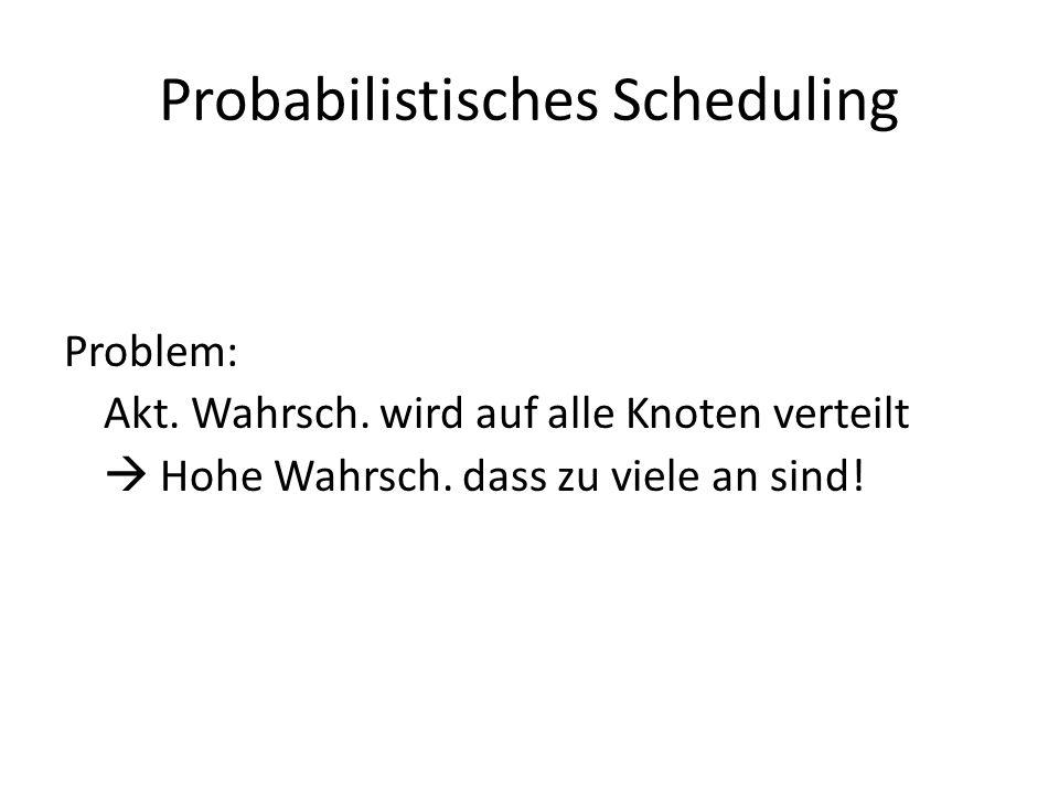 Probabilistisches Scheduling Problem: Akt. Wahrsch.