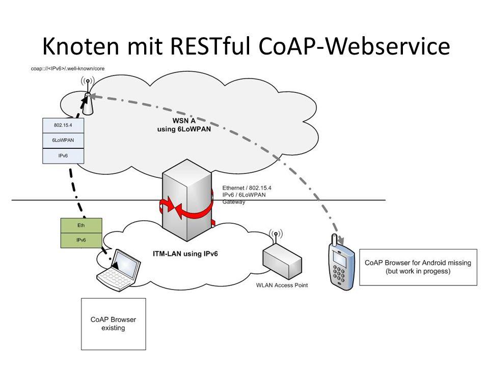 Knoten mit RESTful CoAP-Webservice