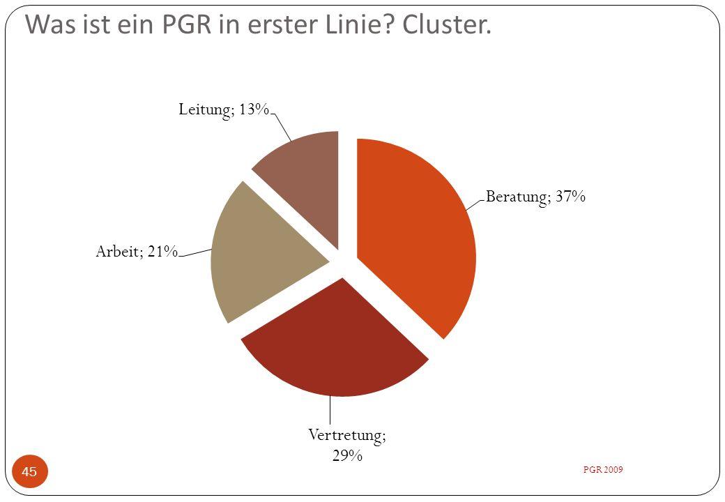 Was ist ein PGR in erster Linie? Cluster. 45