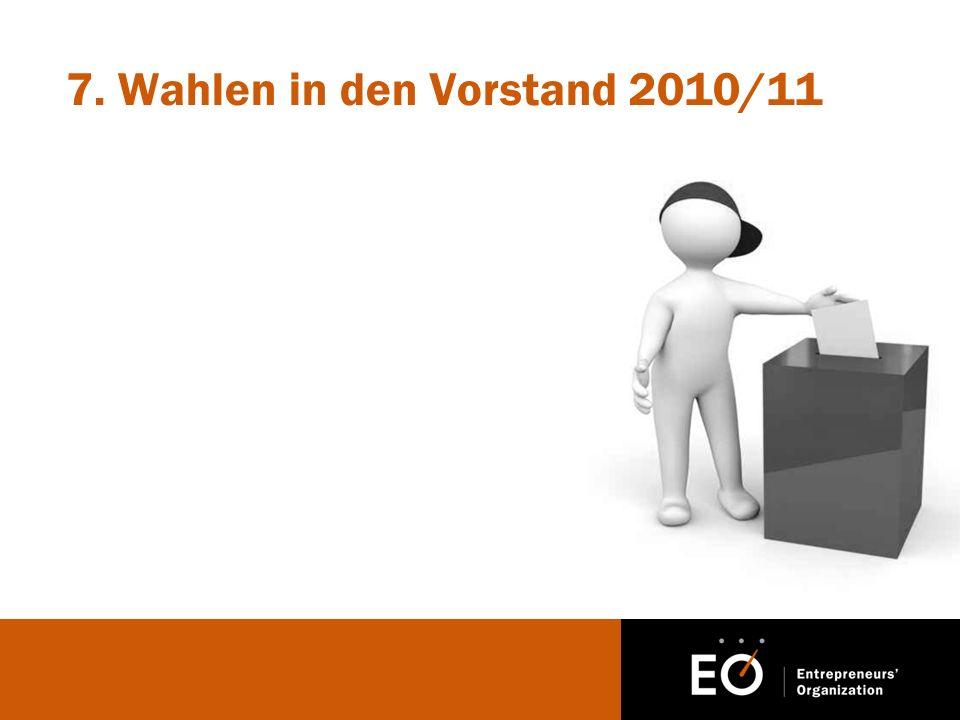 7. Wahlen in den Vorstand 2010/11