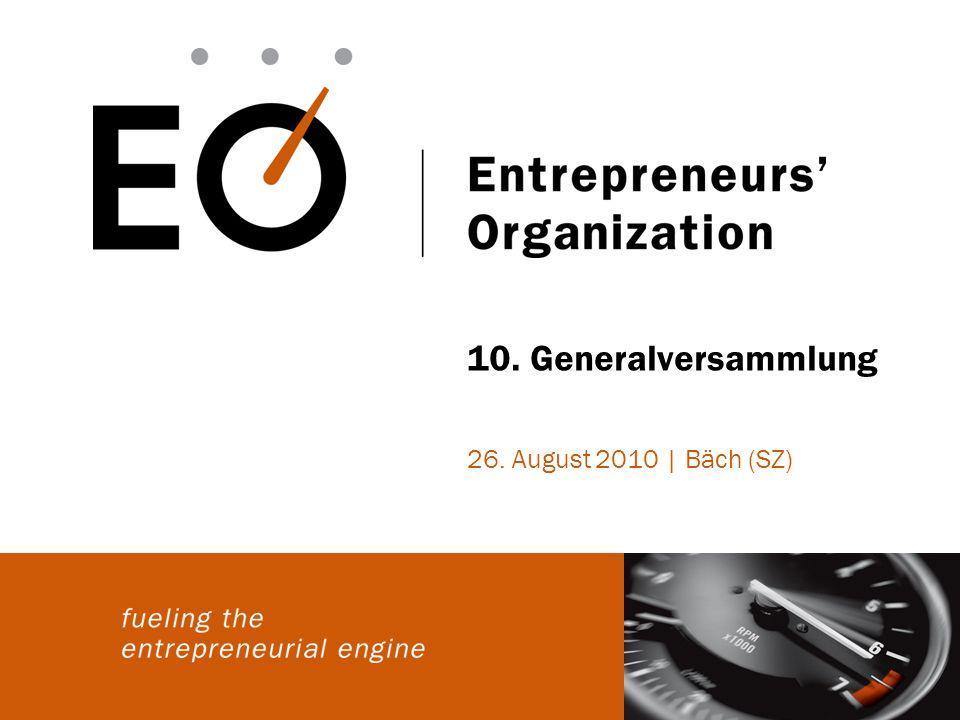 10. Generalversammlung 26. August 2010 | Bäch (SZ)