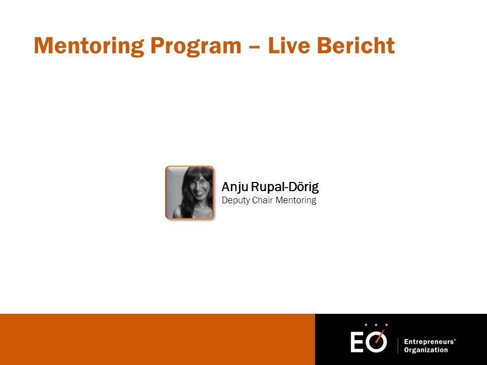 Mentoring Program – Live Bericht Anju Rupal-Dörig Deputy Chair Mentoring