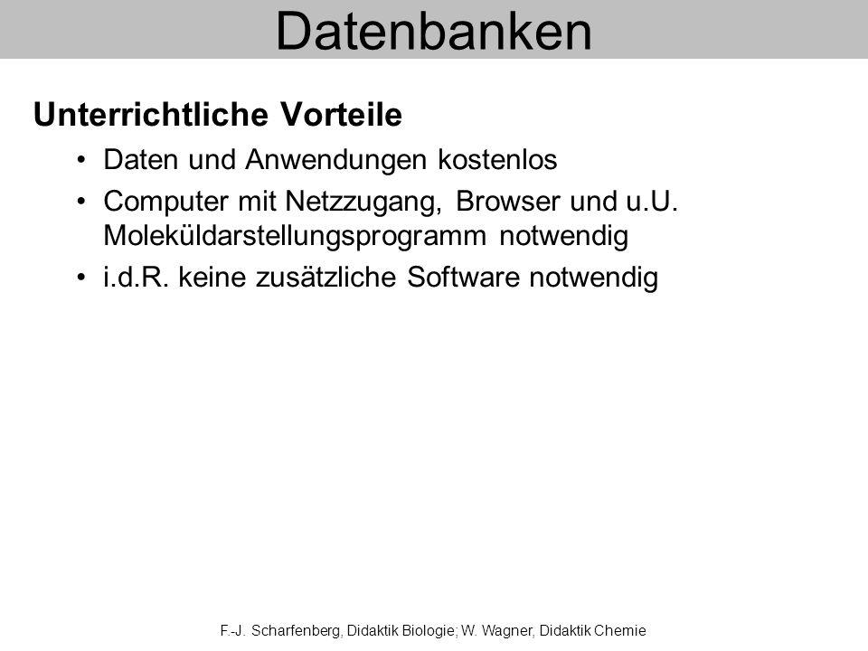 Datenbanken Unterrichtliche Vorteile Daten und Anwendungen kostenlos Computer mit Netzzugang, Browser und u.U.