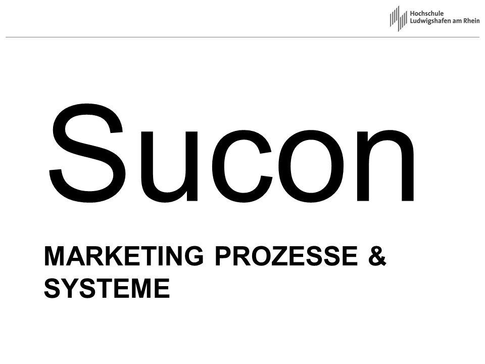 Unternehmen Sucon Sucon = SuperConsulting Führender Marketingunternehmendienstler in Deutschland CRM Consulting 20 Angestellte und 50 freie Mitarbeiter Hauptsitz in München, Zweigstelle in Ludwigshafen Referenzen: –Kaufhof –Kick –Takko –Deichmann