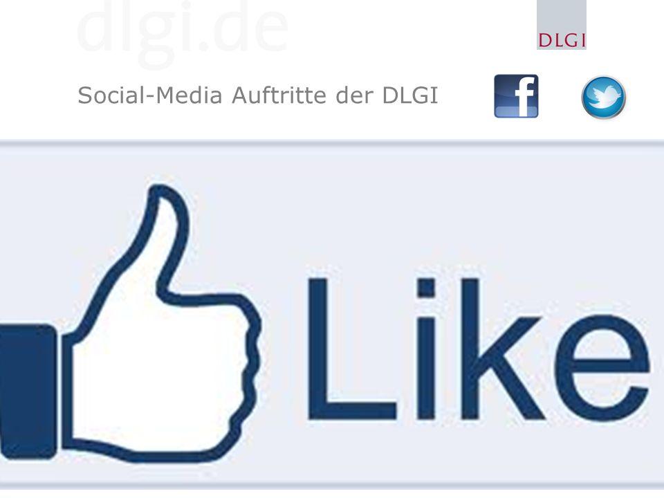Social-Media Auftritte der DLGI