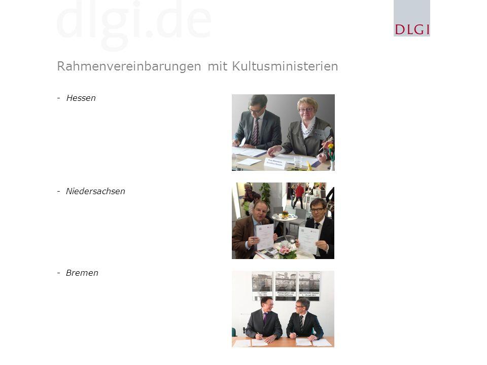 Rahmenvereinbarungen mit Kultusministerien -Hessen -Niedersachsen -Bremen