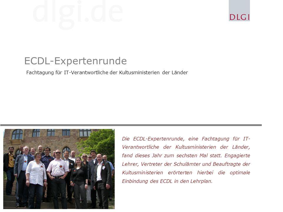 ECDL-Expertenrunde Fachtagung für IT-Verantwortliche der Kultusministerien der Länder Die ECDL-Expertenrunde, eine Fachtagung für IT- Verantwortliche der Kultusministerien der Länder, fand dieses Jahr zum sechsten Mal statt.