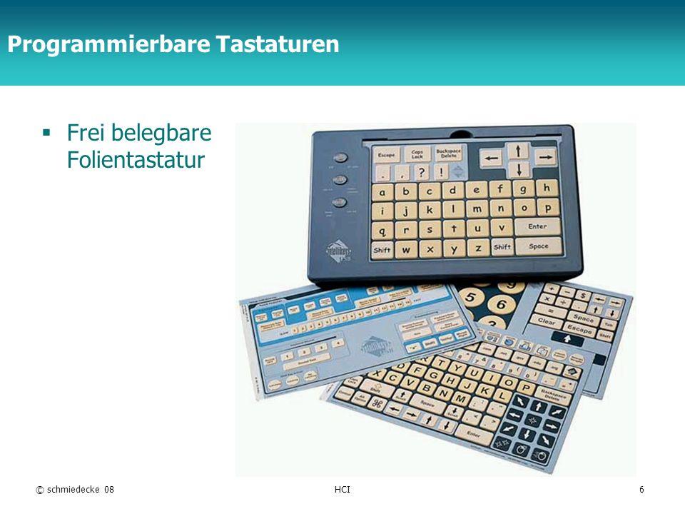TFH Berlin Programmierbare Tastaturen Frei belegbare Folientastatur © schmiedecke 08HCI6