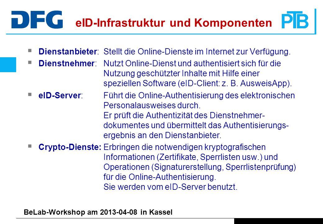 BeLab-Workshop am 2013-04-08 in Kassel Dienstanbieter:Stellt die Online-Dienste im Internet zur Verfügung.