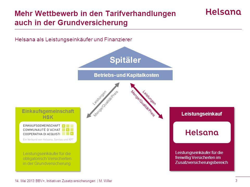 Mehr Wettbewerb in den Tarifverhandlungen auch in der Grundversicherung Spitäler Betriebs- und Kapitalkosten Leistungen Menge/Qualität/Preis Leistunge